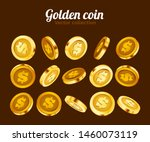 3d gold isolated coins set.... | Shutterstock .eps vector #1460073119