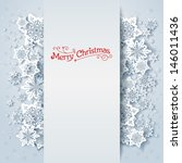 winter holiday background with... | Shutterstock .eps vector #146011436