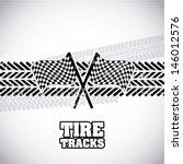 tire tracks over gray... | Shutterstock .eps vector #146012576