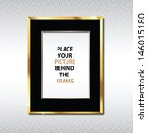 Golden Frame  For Placing Your...
