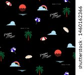 beach icon elements  seamless... | Shutterstock .eps vector #1460162366