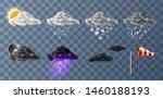 weather meteo icons realistic...