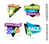 special offer sale banner.... | Shutterstock . vector #1460203349