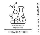 pharmaceutical engineering... | Shutterstock .eps vector #1460205593
