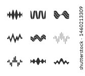 Sound Waves Glyph Icons Set....