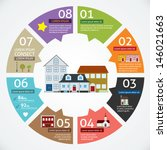 vector circle house concepts... | Shutterstock .eps vector #146021663