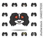 pekingese emoji heart eyes...