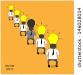 business man brainstorming   ...   Shutterstock .eps vector #146028014