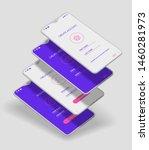 trendy 3d responsive mobile ui...
