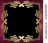 gold frame  | Shutterstock .eps vector #146030489