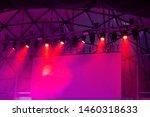 illuminated empty concert stage ... | Shutterstock . vector #1460318633