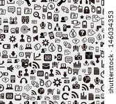 seamless web pattern | Shutterstock .eps vector #146034353