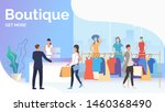 people choosing and buying... | Shutterstock .eps vector #1460368490