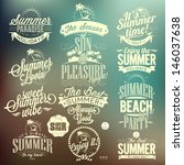 set of summer retro elements... | Shutterstock .eps vector #146037638