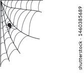 halloween spiderweb border with ... | Shutterstock .eps vector #1460385689