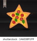 pizza star. vector icon. star...