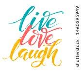 hand drawn vector typography... | Shutterstock .eps vector #1460395949