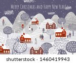 merry christmas and happy new...   Shutterstock .eps vector #1460419943