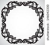 symmetric ornament frame in... | Shutterstock .eps vector #146042330