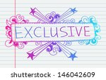 doodle banners for sale in e... | Shutterstock .eps vector #146042609