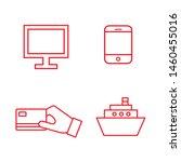 flat line minimal e commerce... | Shutterstock .eps vector #1460455016