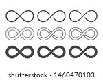 infinity loop logo icon black... | Shutterstock .eps vector #1460470103