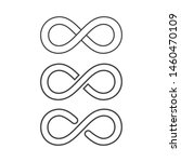 infinity loop logo icon black... | Shutterstock .eps vector #1460470109