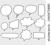 set of hand drawn comic bubble... | Shutterstock .eps vector #1460470880