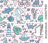 funny seamless pattern with...   Shutterstock .eps vector #146047940