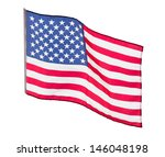 the american flag in the wind ... | Shutterstock . vector #146048198