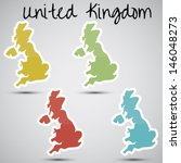 stickers in form of great... | Shutterstock .eps vector #146048273