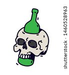 illustration of a skull with a... | Shutterstock .eps vector #1460528963