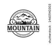 vintage mountain logo monogram... | Shutterstock .eps vector #1460540303