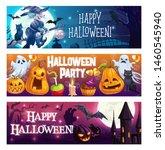 happy halloween  vector cartoon ...   Shutterstock .eps vector #1460545940
