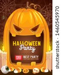 halloween pumpkin monster... | Shutterstock .eps vector #1460545970