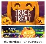 halloween trick or treat party... | Shutterstock .eps vector #1460545979