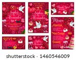 thank you reply on wedding day...   Shutterstock .eps vector #1460546009