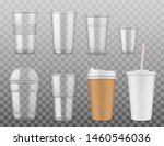 empty disposable plastic or... | Shutterstock .eps vector #1460546036
