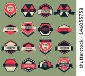 vintage logo vector set   Shutterstock .eps vector #146055758