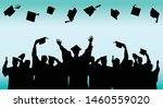 businessman graduate in... | Shutterstock .eps vector #1460559020