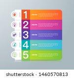 infographics design paper art... | Shutterstock .eps vector #1460570813