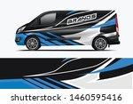 van wrap design. wrap  sticker... | Shutterstock .eps vector #1460595416