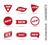 new labels  1 . | Shutterstock .eps vector #146060873