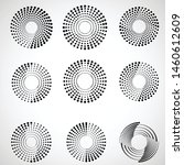 halftone dots in circle form.... | Shutterstock .eps vector #1460612609