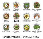 malaysian cuisine isolated... | Shutterstock .eps vector #1460614259