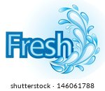 fresh and water label vector | Shutterstock .eps vector #146061788