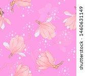 magnolia pink flowers floral... | Shutterstock .eps vector #1460631149