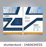 business brochure flyer design... | Shutterstock .eps vector #1460634533