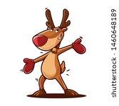cartoon reindeer for christmas... | Shutterstock .eps vector #1460648189