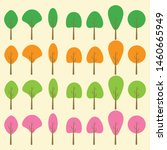 flat trees vector design... | Shutterstock .eps vector #1460665949